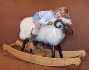 Emily on a Rocking Ram